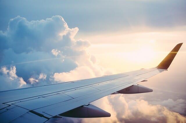 vue dans un avion