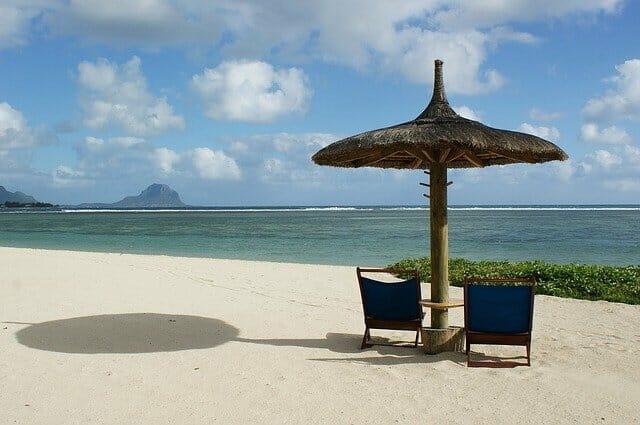 plage plate de maurice